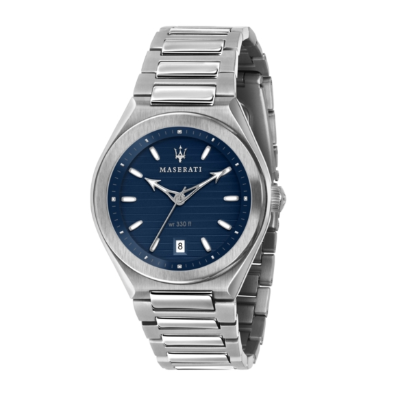 MASERATI TRICONIC 40MM 3H BLUE DIAL BR SS R8853139002