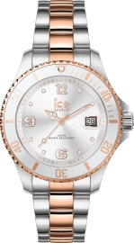 RELOJ ICE WATCH STEEL - SILVER ROSE-GOLD - SMALL - 3H IC017322