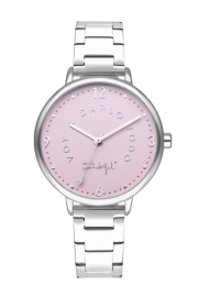 RELOJ MR WONDERFUL WATCH SHINE AND SMILE / SILVER&PINK / BR WR10100