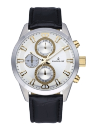 RELOJ RADIANT GUARDIAN ALL SS 44MM SILV / BLK LEAT. ST RA479710