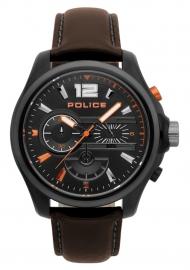 RELOJ POLICE DENVER CHR BLACK DIAL DARK BROWN STRAP R1471294002