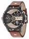 POLICE LEADER MULTI BLACK DIAL BROWN STRAP R1451288001