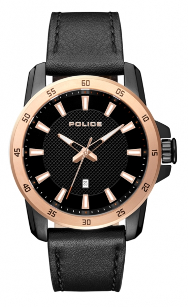 POLICE TROMSO 3H BLACK DIAL BLACK ST R1451306005