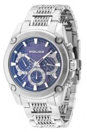 RELOJ POLICE MESH UP MULTI. BLUE DIAL ST.STEEL BR R1453260001
