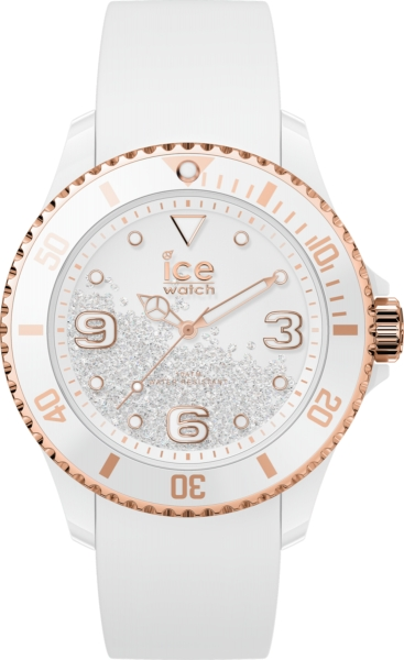 ICE WATCH CRYSTAL - WHITE ROSE-GOLD - SMOOTH - 3H IC017248