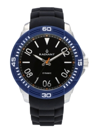 RELOJ RADIANT AREN 46MM BLACK BLUE DIAL BLACK SILI + T RA503602T