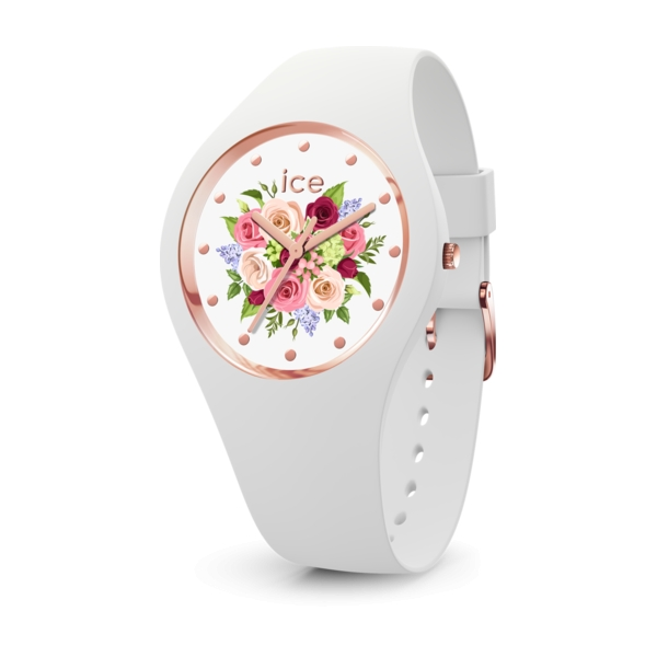 ICE WATCH FLOWER - WHITE BOUQUET - SMALL - 3H IC017575