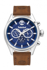 RELOJ TIMBERLAND ASHMONT 46MM BLUE DIAL BROWN LEATHER ST TBL.16062JYS-03