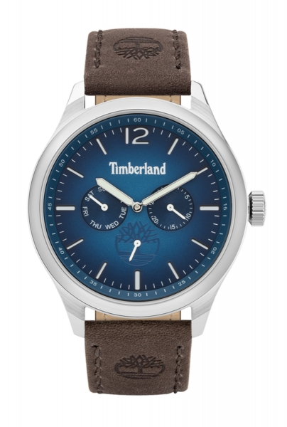 TIMBERLAND SAUGUS 46MM BLUE DIAL BROWN LEATHER STRA TBL.15940JS-03