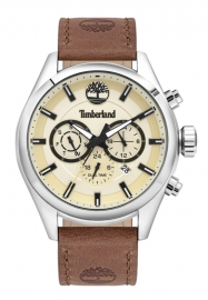 RELOJ TIMBERLAND ASHMONT 46MM BEIGE DIAL BROWN LEATHER ST TBL.16062JYS-14