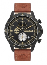 RELOJ TIMBERLAND DUNFORD 46MM BLACK DIAL BROWN LEATHER ST TBL.16003JYB-02