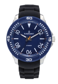 RELOJ RADIANT AREN 46MM BLUE DIAL BLACK SILI STRAP + T RA503604T
