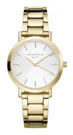 RELOJ ROSEFIELD THE TRIBECA WHITE SUNRAY STEEL GOLD TWSG-T61
