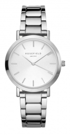 RELOJ ROSEFIELD THE TRIBECA WHITE SUNRAY STEEL SILVER TWSS-T62