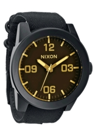 RELOJ NIXON CORPORAL MATTE BLACK / ORANGE TINT A2431354