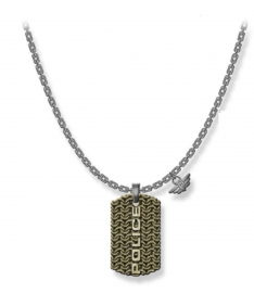 RELOJ POLICE JEWELS ENGAWA NECKLACE SILVER SS GOLD PENDANT PJ.26565PSQG-03