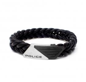 RELOJ POLICE JEWELS BARNHILL BRACELET SS LOGO BLACK LEATHER PJ.26558BLSB-01