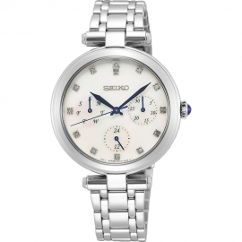 RELOJ SEIKO LADIES CUARZO MULTIF. 12 DIAMANTES MOP SKY663P1