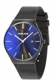RELOJ POLICE NEW HORIZON 3H BLACK DIAL BLK SIL STRAP R1451283001