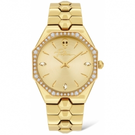 RELOJ POLICE MONTARIA WOMAN GOLD DIAL SS GOLD BAND PL.16038BSG-22M