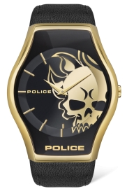 RELOJ POLICE PEWJA2002301 SPHERE 2H GOLD / BLACK LEAT PL.16114JSG-02