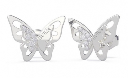 RELOJ GUESS OVERLAPPED BUTTERFLY STUDS RH UBE70184