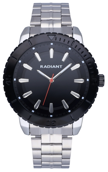 RADIANT MARINE 44MM BLACK DIAL IPSILVER BRAZ RA570202