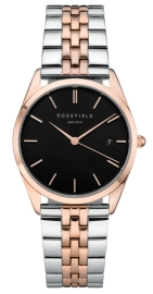RELOJ ROSEFIELD THE ACE BLACK SILVER ROSEGOLD DUO ACBSD-A07