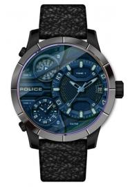 RELOJ POLICE BUSHMASTER 3H DATE BLUE DIAL / BLACK L PEWJB2110640