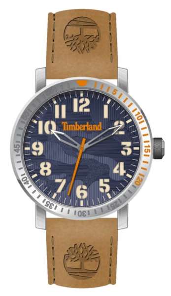 TIMBERLAND TOPSMEAD 44M 3H NAVY DIAL / BROWN LEATH TDWGA2101604