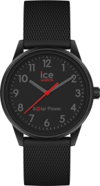 RELOJ ICE WATCH SOLAR POWER- BLACK RED -NUMBERS -S -3H IC018740