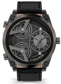 RELOJ POLICE WING 3H BLACK DIAL / BLACK LEATHER PEWJA2117942