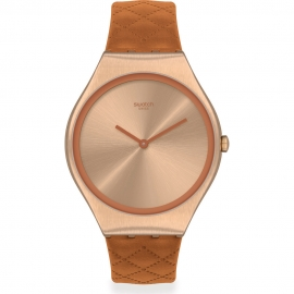 RELOJ SWATCH BROWN QUILTED SYXG115