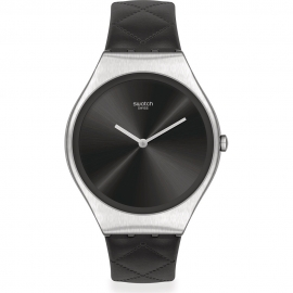 RELOJ SWATCH BLACK QUILTED SYXS136